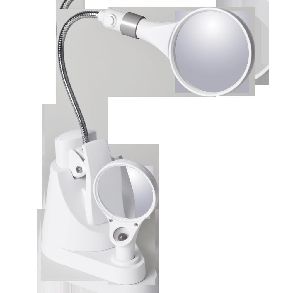 Ottlite Led Clip Amp Freestanding Dual Magnifier Lamp Led