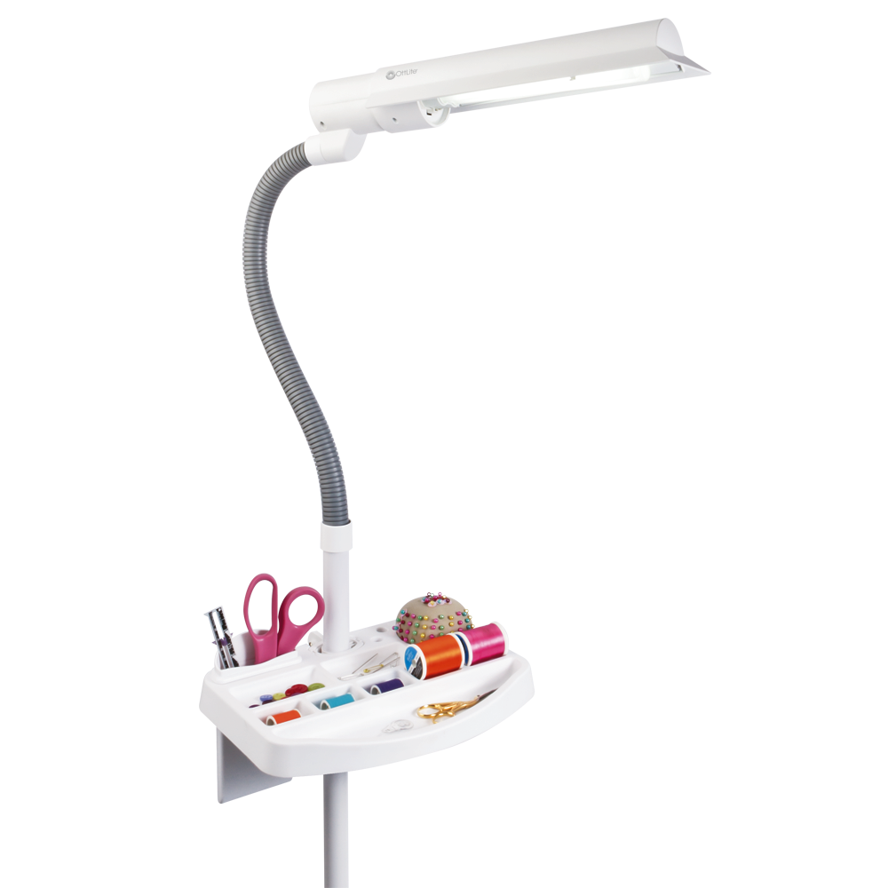 Ottlite 18w Sewers Floor Lamp With Storage Tray