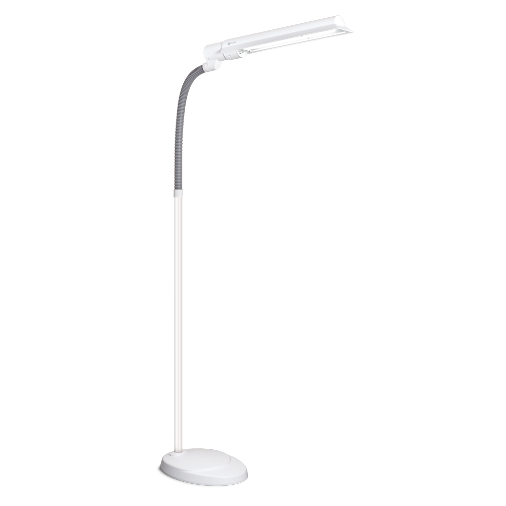Ottlite 3 in 1 craft floor lamp - Ottlite 24w Wingshade Floor Lamp Multiple Position Shade Direct Illumination Where You Need It