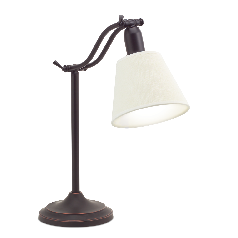 Ottlite Marietta Table Lamp Antiqued Bronze Desk And