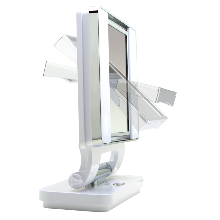 Ottlite Natural Lighted Makeup Mirror White Vanity