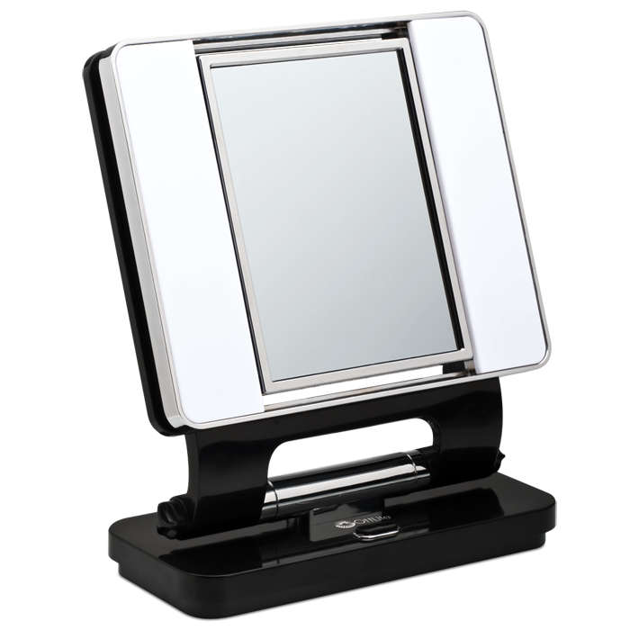 lighted make up mirror OttLite Natural Makeup Mirror Black | Lighted Vanity Mirrors  lighted make up mirror