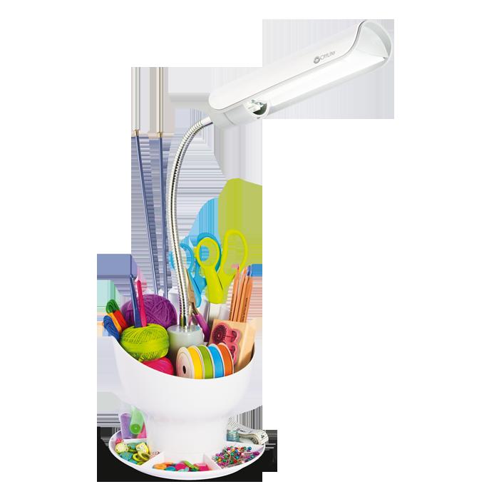 Ottlite Craft Space Organizer Craft Lamp With Storage
