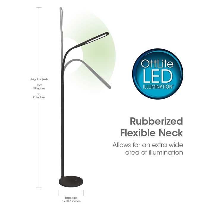 Ottlite Natural Daylight Led Flex Lamp Floor
