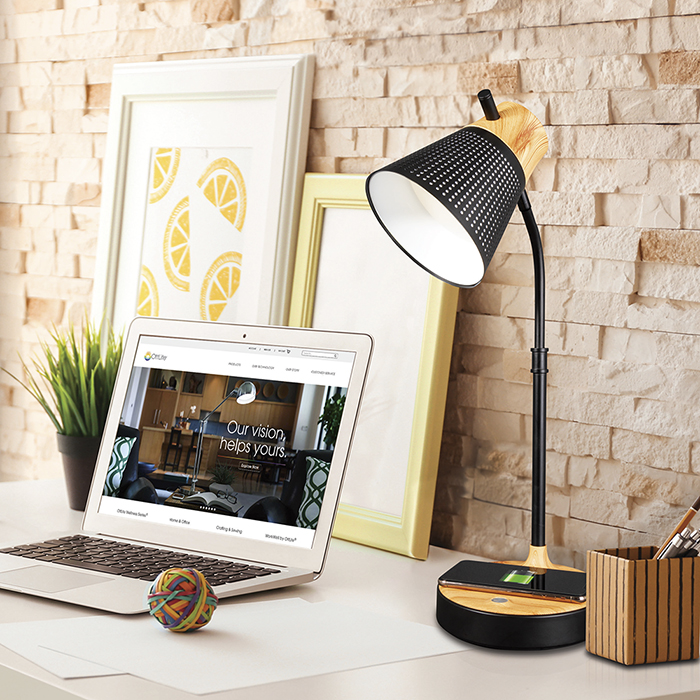 Ottlite Wellness Series Wireless Charging Led Table Lamp
