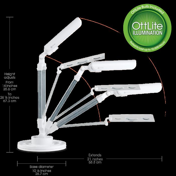 Ott lite lighting customer reviews lighting ideas for Ottlite 3 in 1 craft floor lamp