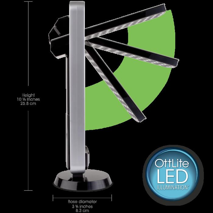 Ottlite led task light led desk lamp led desk light for Small led lights for crafts michaels