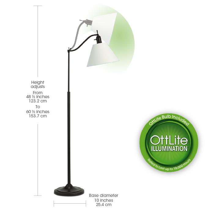 Ottlite marietta floor lamp floor lamps mozeypictures Choice Image