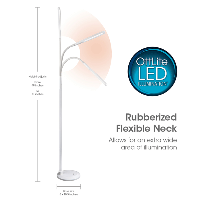 Ottlite natural daylight led flex lamp floor lamp product instructions aloadofball Image collections