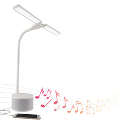 Dual Shade LED Lamp with Bluetooth® Speaker & USB