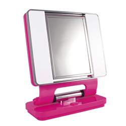 OttLite Natural Lighted Makeup Mirror - Pink