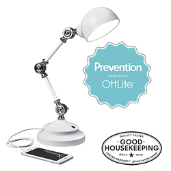 Prevention by OttLite LED Pharmacy Desk Lamp