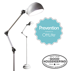 Prevention by OttLite LED Pharmacy Floor Lamp