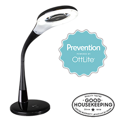 Prevention by OttLite LED Magnifier Lamp