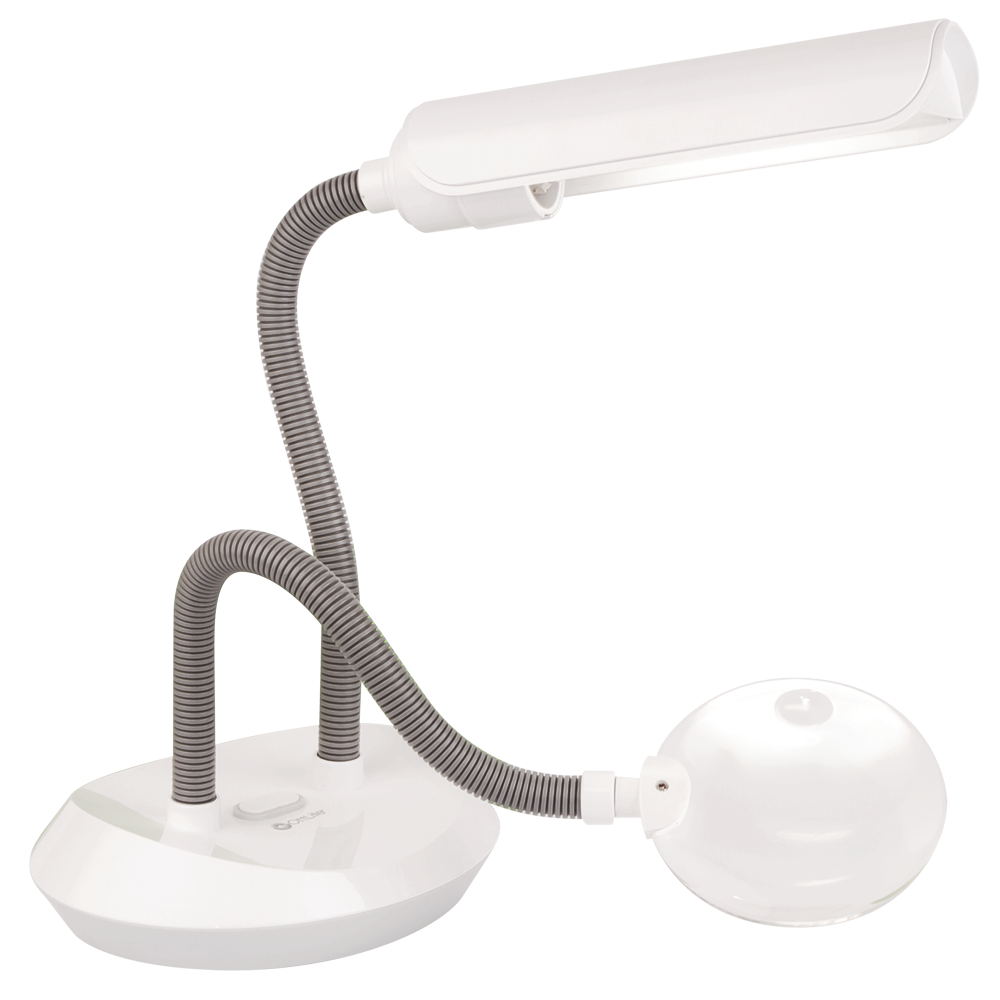 13w DuoFlex Magnifier Lamp - OttLite Magnification Lamps Lighted Magnifiers Handheld Magnifiers
