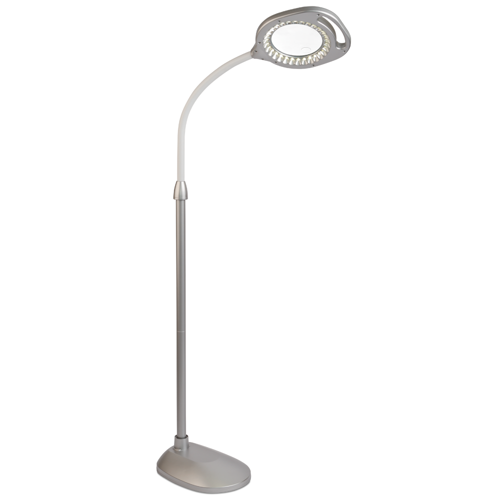 OttLite 2 In 1 LED Magnifier Floor And Table Light | Magnifier Lamp |  Natural Daylight Lighting