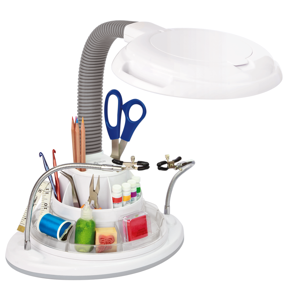 Ottlite 22w Ultimate Magnifier Lamp And Storage Station