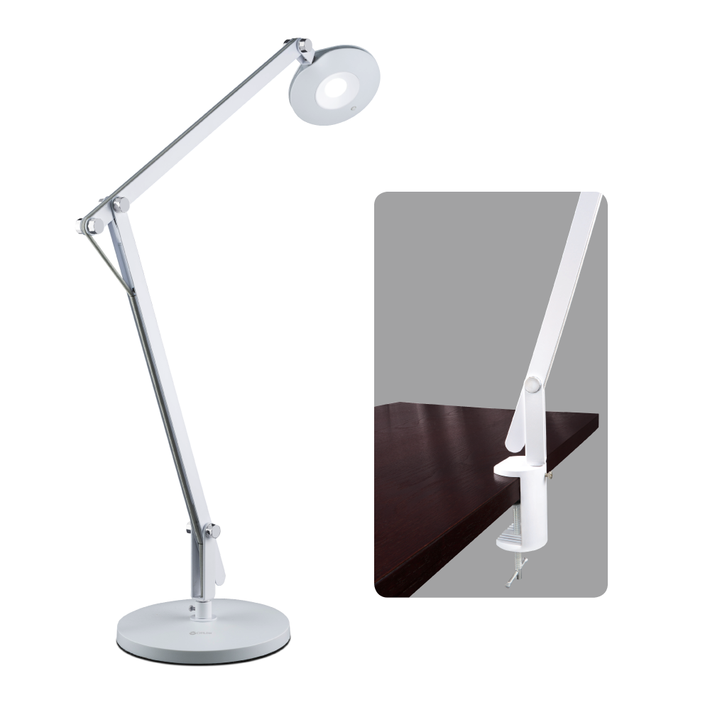Ottlite natural daylight lighting floor lamps reading lamps led crane lamp with clamp mozeypictures Choice Image