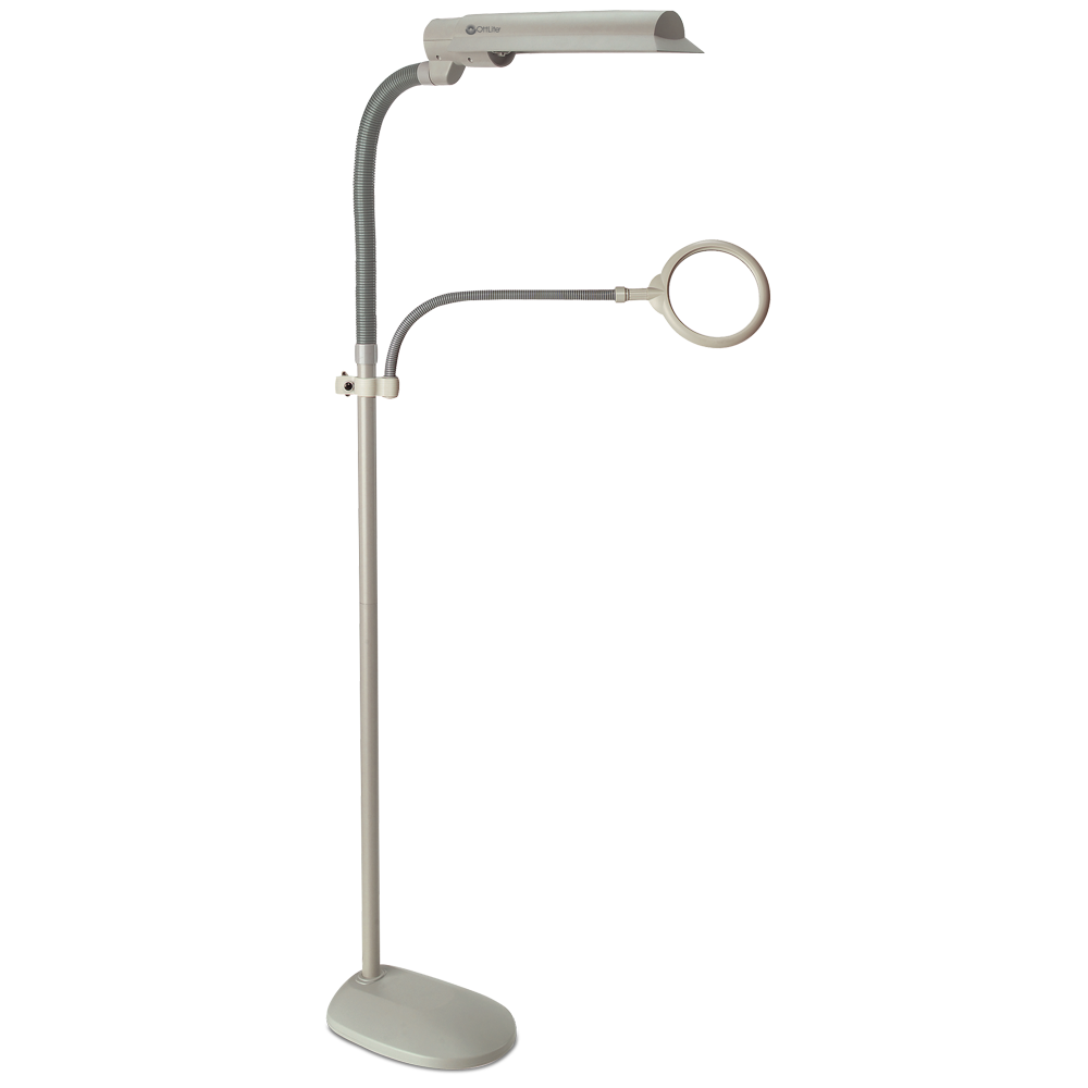 Craft lamps daylight floor gurus floor for Ottlite 3 in 1 craft floor lamp