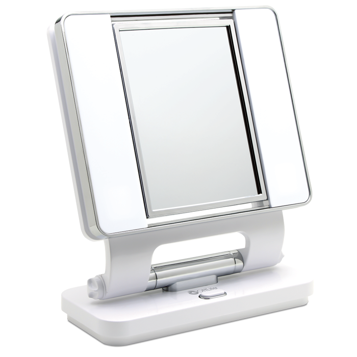 lighted makeup mirror white vanity lighted mirrors makeup light. Black Bedroom Furniture Sets. Home Design Ideas
