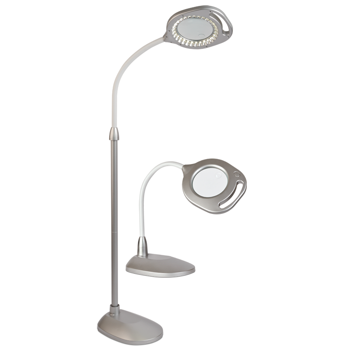 2 In 1 Led Magnifier Floor And Table Light