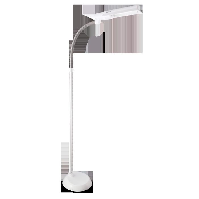 Ottlite 13w wingshade floor lamp multi position shade for Natural light reading floor lamp