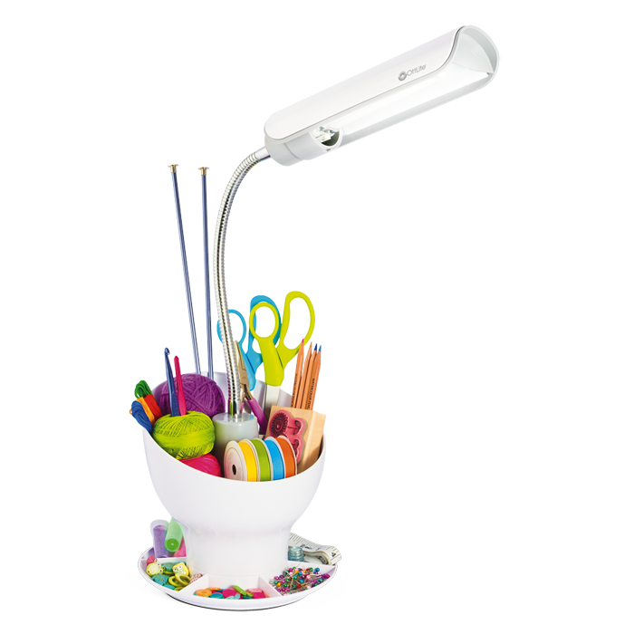 Ottlite Craft Space Organizer Craft Lamp With Storage